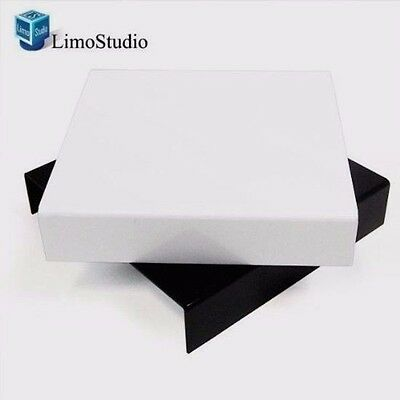NEW Table Top Black and White Acrylic Reflective Display for Product Photography