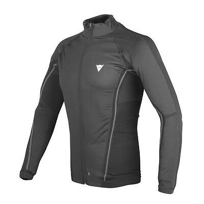 Dainese D-Core No Wind Dry LS Black / Anthracite Moto Tee Base Layer | All Sizes
