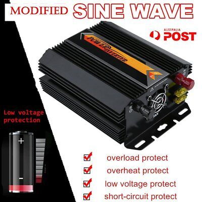 Pure Sine Wave Power Inverter 2000W/4000W Max 12V 240V Camping Boat Sinewave