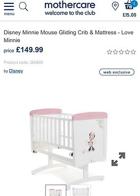 Baby Swinging Crib. Minnie The Mouse. White And Pink