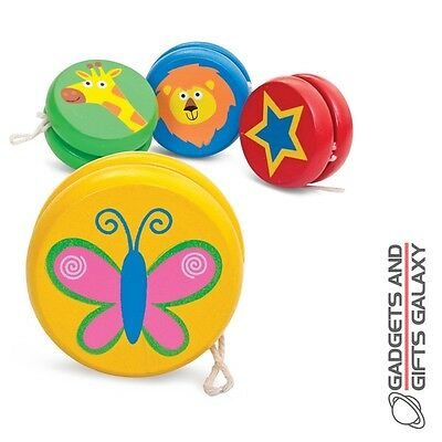MINI WOODEN YOYO FUN TOY  PARTY BAG FILLER - novelty gifts games and gadgets