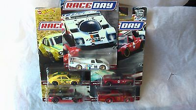 Hot Wheels 2017 1/64  5 Car Set Culture Race Day Porsche Acura +3  New In Stock