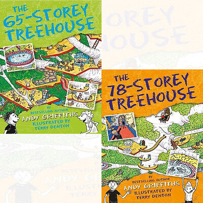 Andy Griffiths Vol(65,78) Collection 2 Books Pack Set Storey Treehouse NEW BRAND