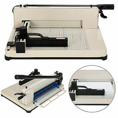 """Heavy Duty 12"""" Guillotine Paper Cutter A4-B7 Trimmer Sheet Metal Base Commercial"""
