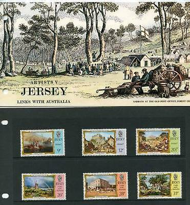 Jersey Presentation Pack 1984 Artists 5Th Series Links With Australia Sg 344-349