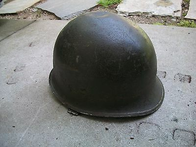 Antique Vintage World War 1 World War 2 RARE Metal Army Helmet And Strap.