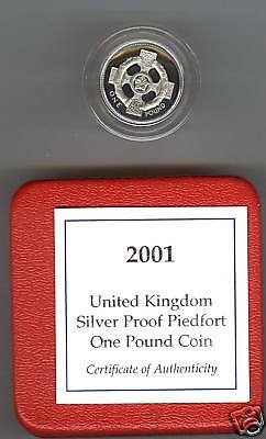 2001 Boxed Piedfort Proof £1 Northern Ireland With Certificate