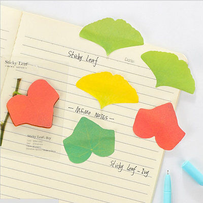 1pcs Leaves practical Sticker Bookmark Sticky Notes Point Marker Memo Post FZ04