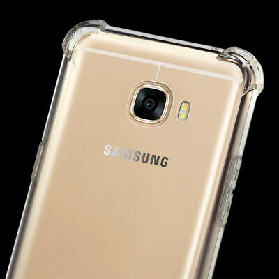 For Samsung Galaxy J7 Max Anti Impact Protect Clear Gel Skin Case Cover