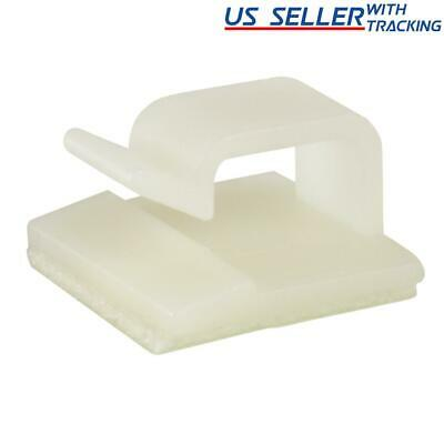 25pcs Simple Adhesive Cable Routing Clip for Cord Management, Medium