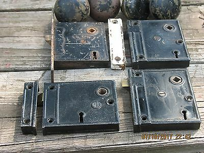 Vintage Lot of Old Antique Metal  Door Locks