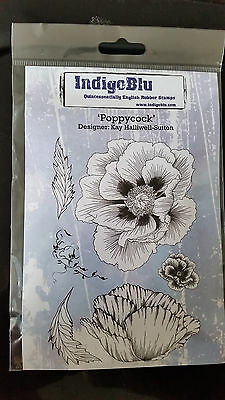 IndigoBlu Poppycock A6 New and Sealed Rubber Stamp