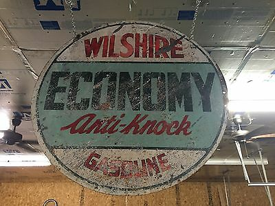 Wilshire Gasoline Sign Gas And Oil Porcelain Sign Chevrolet Ford