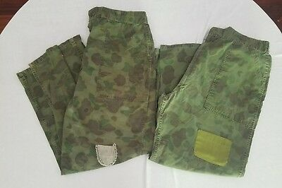 2 Pair Vintage 60's 70's Fred Bear Green Ripstop Camo Grunge Hunting Pants Mens