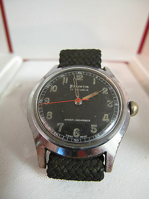 MILITARY WAR TIME HELVETIA vintage watch