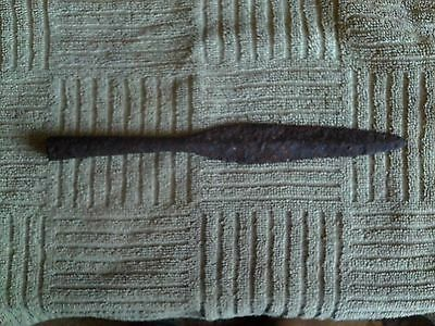 ancient Roman Iron spearhead,  10 inches long