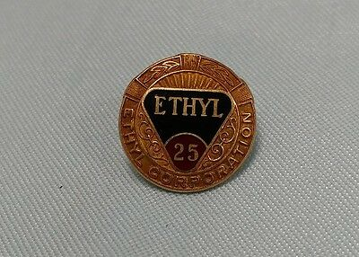 Ethyl 10K Gold 25 Year Service Hat Pin fuel gas byproduct