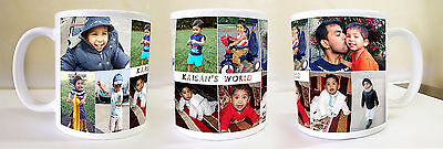 Personalised custom gift Coffee/Tea Mug Printing -11oz Large Handle,Glossy White