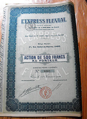 "Action France "" L'Express Fluvial  ""  1921"