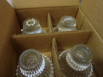Home Interiors/Homco Set of 4 Heritage Glass Candle Holders 1162 NIB