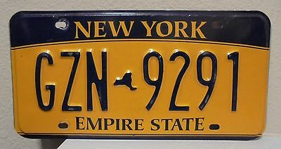 2012 New York  Empire State Gold License Plate Gzn 9291 Used