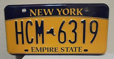 2012 New York  Empire State Gold License Plate Hcm 6319 Used