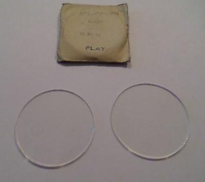 Pair NOS Vintage Sel-Cover USA Clear  Glass Welding Goggle Lenses STEAMPUNK