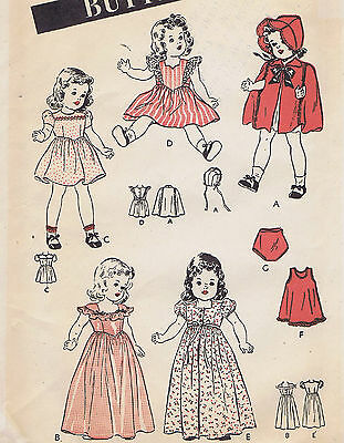 """3626 Vintage Chubby Doll Pattern - Size 18"""" - Year 1952"""
