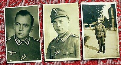 WW II GERMAN ARMY ENLISTED SOLDIER RPPC's (3)