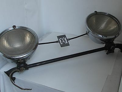 Vintage 1930 - 1931 Cadillac Headlights full Assembly with Emblems