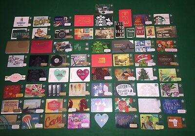 Lot Of 56 Starbucks Gift Cards~No Value~6 Envelopes ~4 Stickers~1 Band