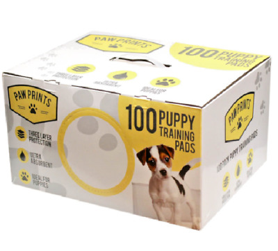 PUPPY TRAINING PADS - (x100) - Ultra Absorbent 3 Layer Toliet Mats kf Puppies