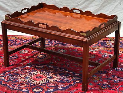 Antique English Chippendale Mahogany Butler's Coffee Table