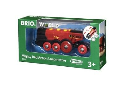 BRIO Battery Powered Mighty Red Action Locomotive Train