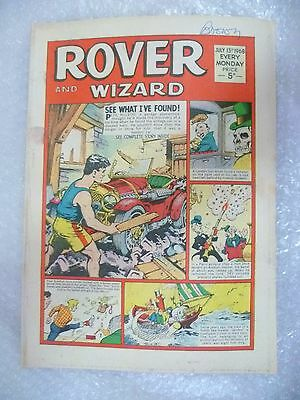 Comic- Rover and Wizard 13th July 1968
