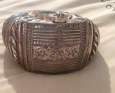 Omani Antique Solid Silver Wedding Ankle Braclet 422 Grams
