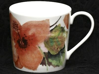 ROSE of ENGLAND WATERCOLOR HIBISCUS Fine Bone China Tapered Large Mug