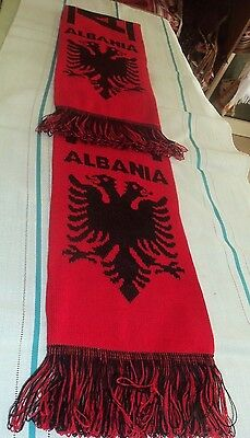 Albanian Eagle Winter Scarf Red & Black Letters And Design-Albania Souvenir-Cute