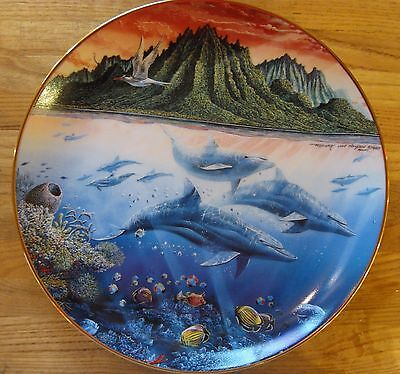 "Underwater Paradise Collection ""Hawaiin Muses"" Dolphins Plate"