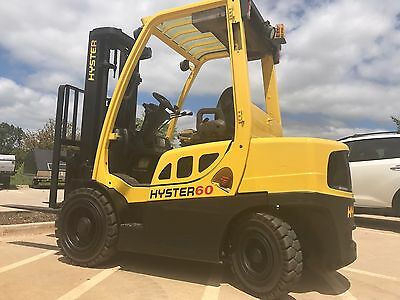 2012 Hyster 6000 Pound Pneumatic Forklift-WE WILL SHIP!Lifts15 Ft-NewPaint&Tires