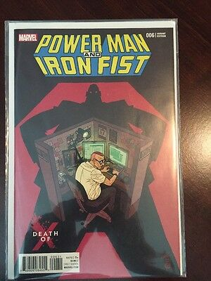 Power Man and Iron Fist #6 Death of X Variant Cover Marvel Comics 2016