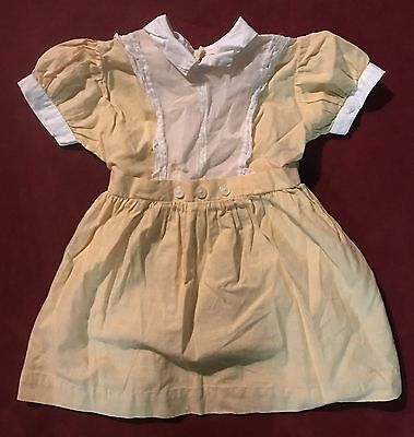 Antique Vintage Baby Dress Doll Dress 12/18/24 MO Yellow Lace Prop