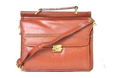 New! Womens D-Collection Fashion-Leather Brown Shoulder Crossbody Tote Bag Large