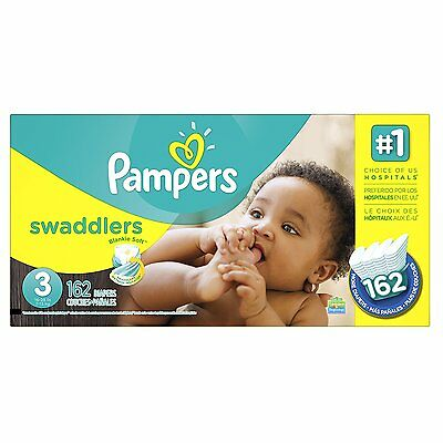 FREE SHIPPING! Pampers Swaddlers Diapers Size 3, 162 Count