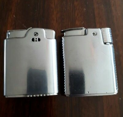 2 x Ronson large lighters Essex and windproof 4 tlc