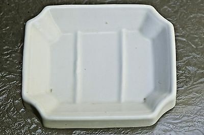 KT&K Knowles Taylor American White Ironstone Block Optic Style Soap Slab 1881