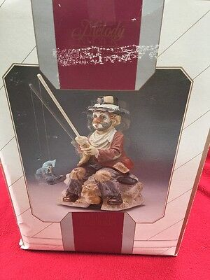 """""""Willie the Fisherman """" Clown / Hobo  Melody in Motion Music Box"""