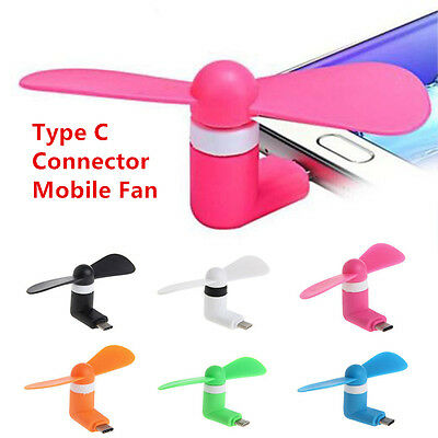 lot Type C Plug Cell Phone Mini Fan Cooler for Samsung Galaxy S8/9 Note 8/9