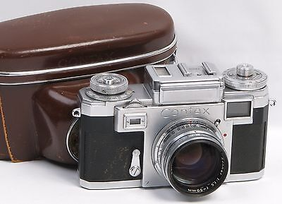 Zeiss Contax IIIA Color Dial Rangefinder 35mm Camera with 50mm f1.5 Sonnar Lens
