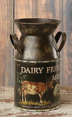 Dairy Fresh MILK CAN Double Handles Farmhouse French Country Decor Rustic Decor